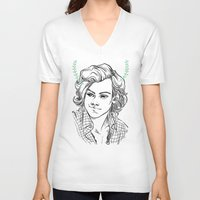 kendrawcandraw V-neck T-shirts featuring Satyr by kendrawcandraw