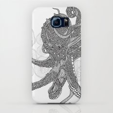 Octopus Bloom black and white Slim Case Galaxy S7