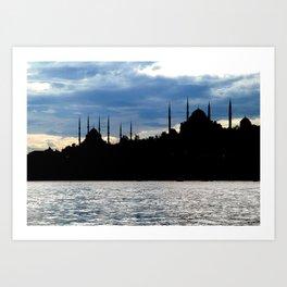 Sultanahmet Camii Skyline Istanbul Turkey Art Print
