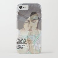 """religious iPhone & iPod Cases featuring """"COME AS A CHILD"""", religious art by Saribelle by Saribelle Inspirational Art"""