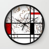 maps Wall Clocks featuring MIX MAPS by MehrFarbeimLeben