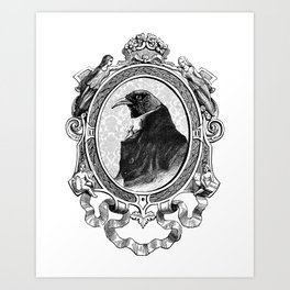 Old Black Crow Art Print