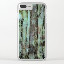ONE MOON ONE TREE Clear iPhone Case