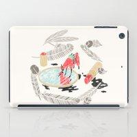 backpack iPad Cases featuring Pretty Miniunilamacorn by Thoka Maer