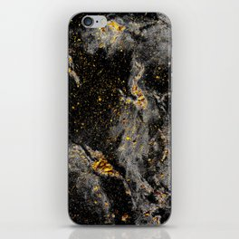 Galaxy (black gold) iPhone Skin