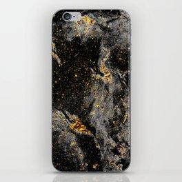 Galaxy (black gold) iPhone Skin