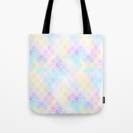Pale Pink Mermaid Tail Abstraction. Pastel Magic Fish Scale Pattern Tote Bag