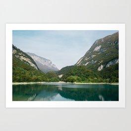 Lake and Mountains Art Print