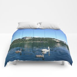 Swans in Bled Comforters
