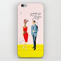 xmas iPhone & iPod Skins featuring xmas by karen owens