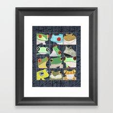 Frogs vertical Framed Art Print