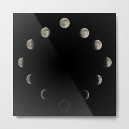 Lunar Cycle Metal Print