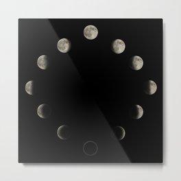 Lunar Cycle Metal Print