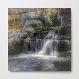 Calm Waters - Waterfall Metal Print