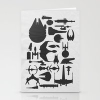 sci fi Stationery Cards featuring Famous Sci Fi Ships by Ewan Arnolda