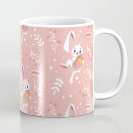Easter Holiday Egg Hunt Bunny Cute Leaves Gift Coffee Mug
