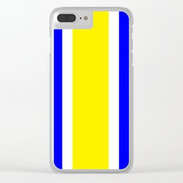 TEAM COLORS 10...YELLOW,BLUE Clear iPhone Case