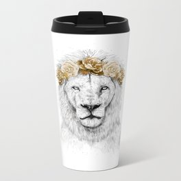 Festival lion (color version) Metal Travel Mug