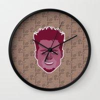 tyler durden Wall Clocks featuring Tyler Durden - FightClub by Kuki