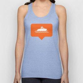 I like boating! Unisex Tank Top