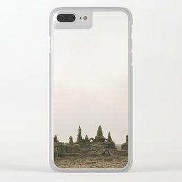 Sandcastles and fog | Rehoboth Beach, DE Clear iPhone Case