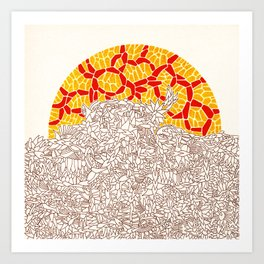 - autumnal sunset - Art Print