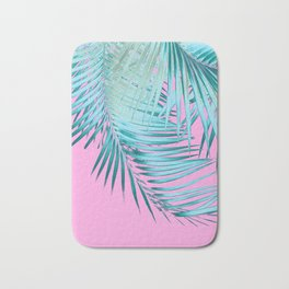 Palm Leaves Pink Blue Vibes #1 #tropical #decor #art #society6 Bath Mat