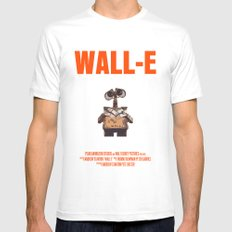 Wall-E Mens Fitted Tee MEDIUM White