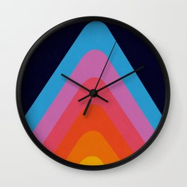 Colorful Peaks Wall Clock