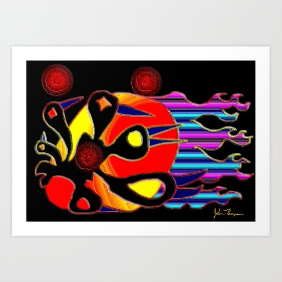 Birds of fire Art Print