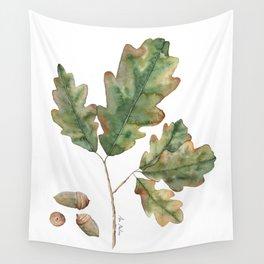 Oak tree leaves Wall Tapestry