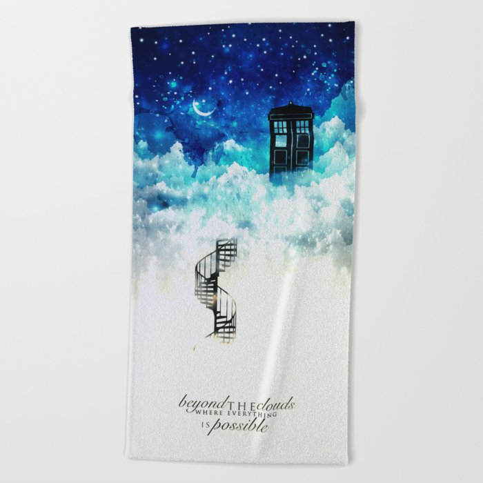 Beyond the clouds | Doctor Who Beach Towel