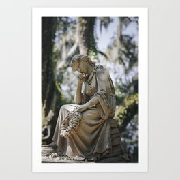 Bonaventure Cemetery - Statue of Eliza Wilhelmina Theus Art Print