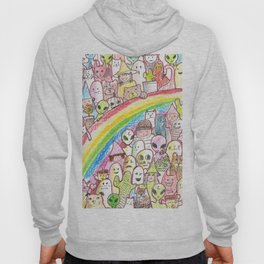 kawaii rainbow party Hoody