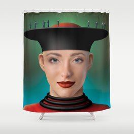 business on the edge Shower Curtain