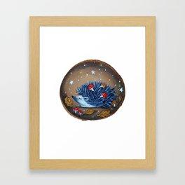 Magical Autumn Hedgehog With Forest Treasures Framed Art Print