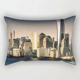 nyc skyline at dusk Rectangular Pillow