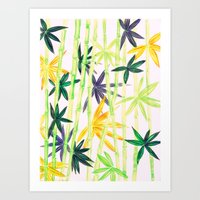 bamboo Art Prints featuring Bamboo by Federico Faggion