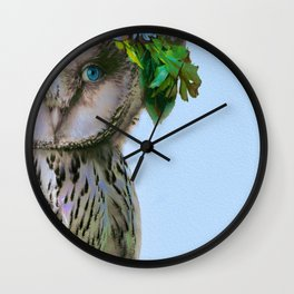 Lady Owl Wall Clock