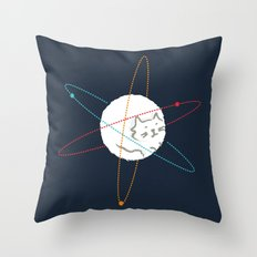 Cat-ion Throw Pillow