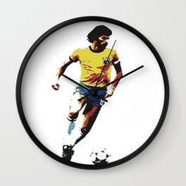 Socrates, Brazilian soccer superman Wall Clock