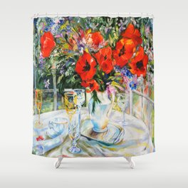 Bouquet on the table Shower Curtain