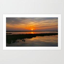 Sunrise Bolsa Chica Wetlands  1/10/14 Art Print