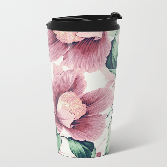 FLOWERS 10a Metal Travel Mug
