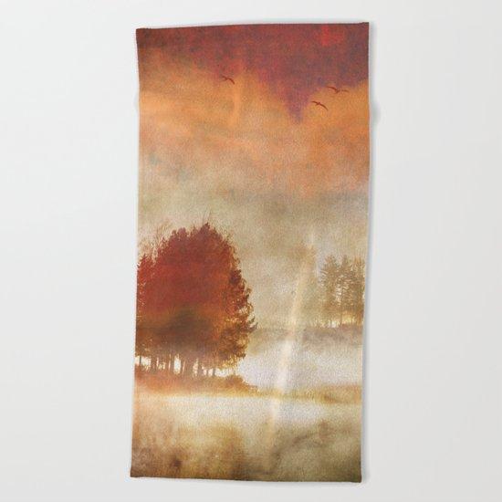 Autumn Mist Beach Towel