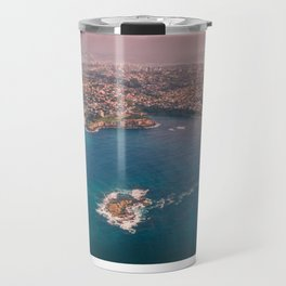 The View of Coogee Beach from High Above, Sydney Australia  Travel Mug