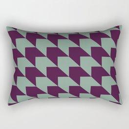 Green vintage pattern Rectangular Pillow