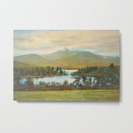 Hand Colored Photograph of Mt. Chocoura, New Hampshire 1920 Charles Henry Sawyer Metal Print