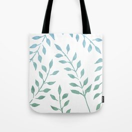 Blue and Green Fronds Tote Bag