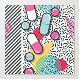 Pills pattern 018 Canvas Print
